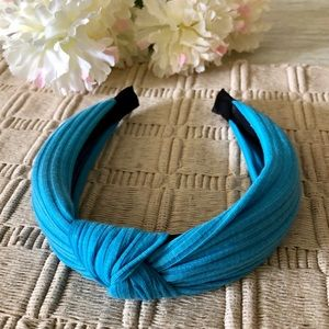 ASHLEY SUNSHINE Cayman Blue Knotted Headband